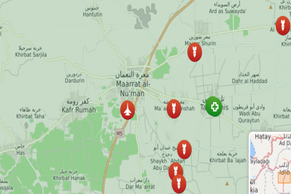Syrian planes bomb a Turkish base in Maarat al-Nouman