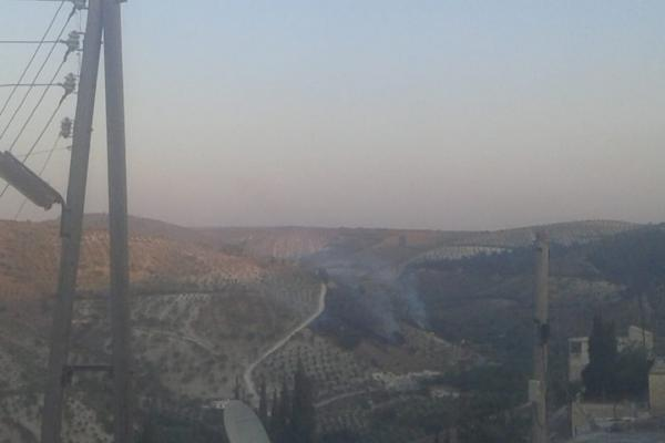 Rajo forests on fire; explosion hits Afrin