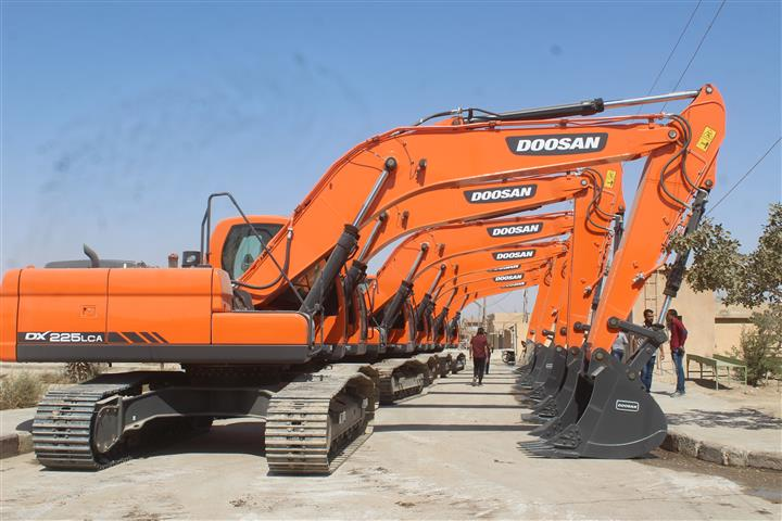 4th Batch of machineries delivered to al-Haskah municipalities