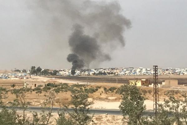 ISIS families set fire in Ain Issa camp