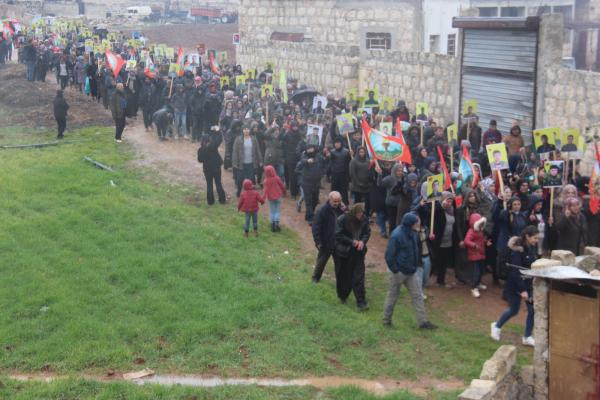 ​​​​​​​Demo in Al-Shehaba and Aleppo in condemnation of Afrin invasion