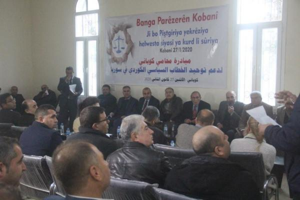 Kobanê lawyers initiated to unify Kurdish political speech in Syria
