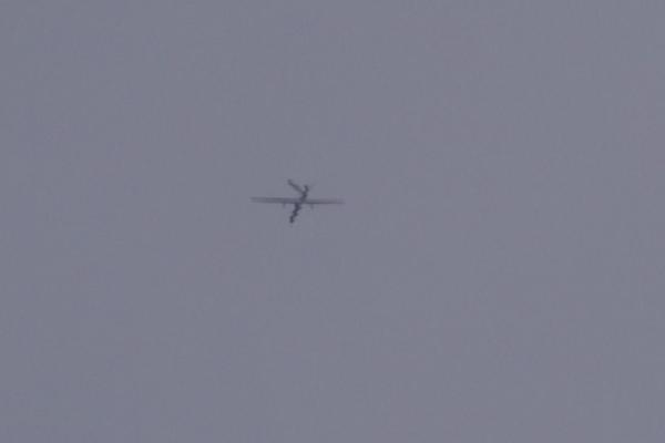 Occupation army surveillance aircrafts hover over Tal Tamr