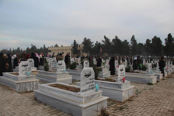 Manbij people commemorated February martyrs