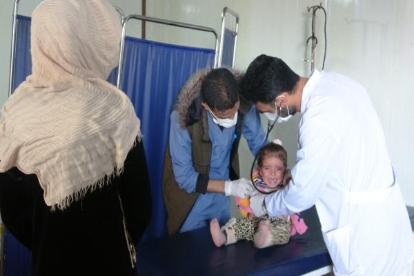 Despite lack of support, medical point in Tal Al-Samen camp provides services for the displaced