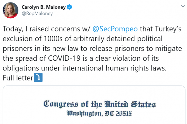 US congress member: Turkey clearly violates international human rights' laws