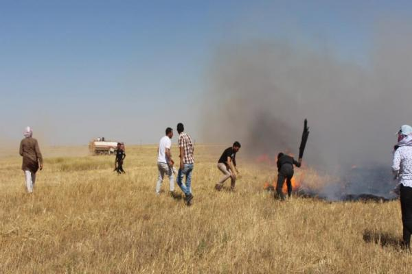 Emergency teams control 3 fires in Tel Hamis