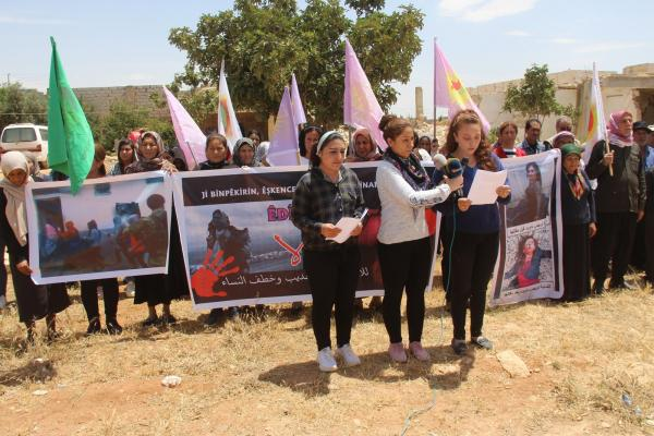 Yezidi Women Union liken occupation crimes to the brutality of ISIS mercenaries
