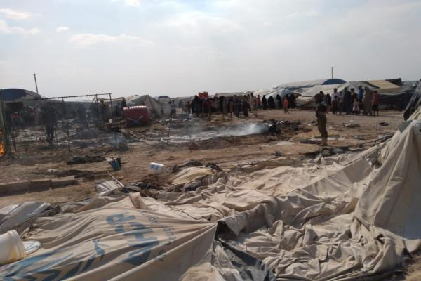 ISIS women set fire in Iraqi refugees' tents in Al-Hol camp