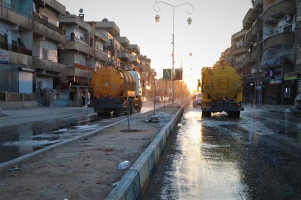 Sterilization, hygiene campaigns in al-Hasakah, al-Shahba to limit Corona virus spread