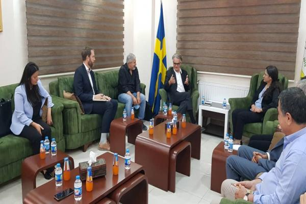 Swedish Foreign Ministry's delegation meeting SDC assure promoting coexistence, playing role of mediator