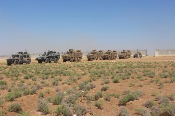 Russian forces conduct 49th patrol with Turkish occupation in ad-Darbasiyah
