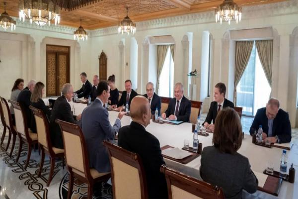Russian delegation discusses with al-Assad joint cooperation, so-called constitutional committee
