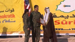 SDF presented commemorative shields