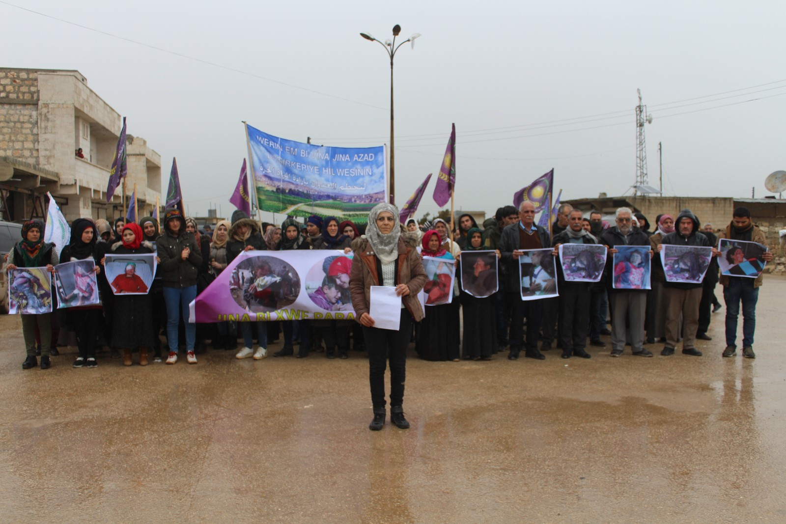Unión de Mujeres Libres en al-Shahba denunció la ocupación y amenazas turcas a Afrin y el norte de Siria