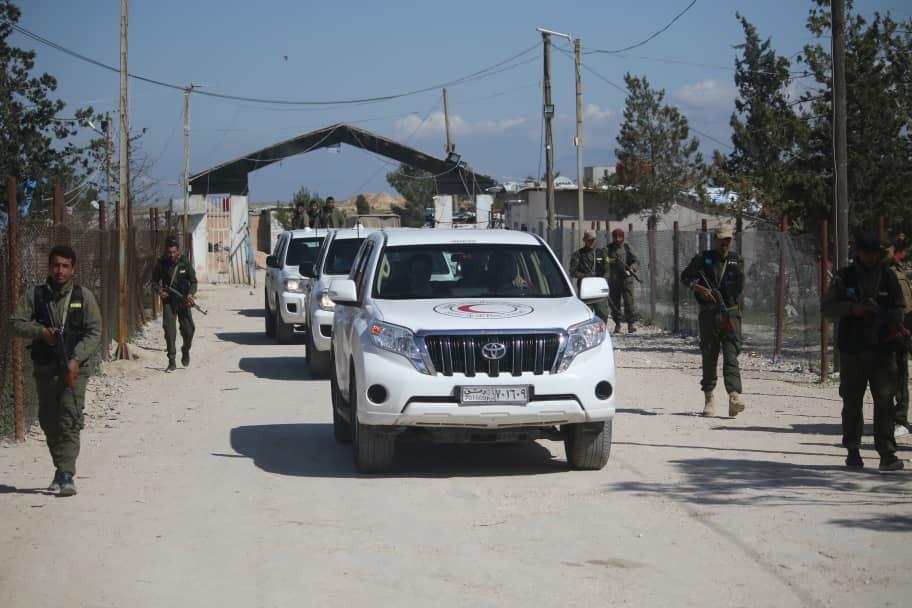 Delegación de la Cruz Roja visita el campamento de al-Hol