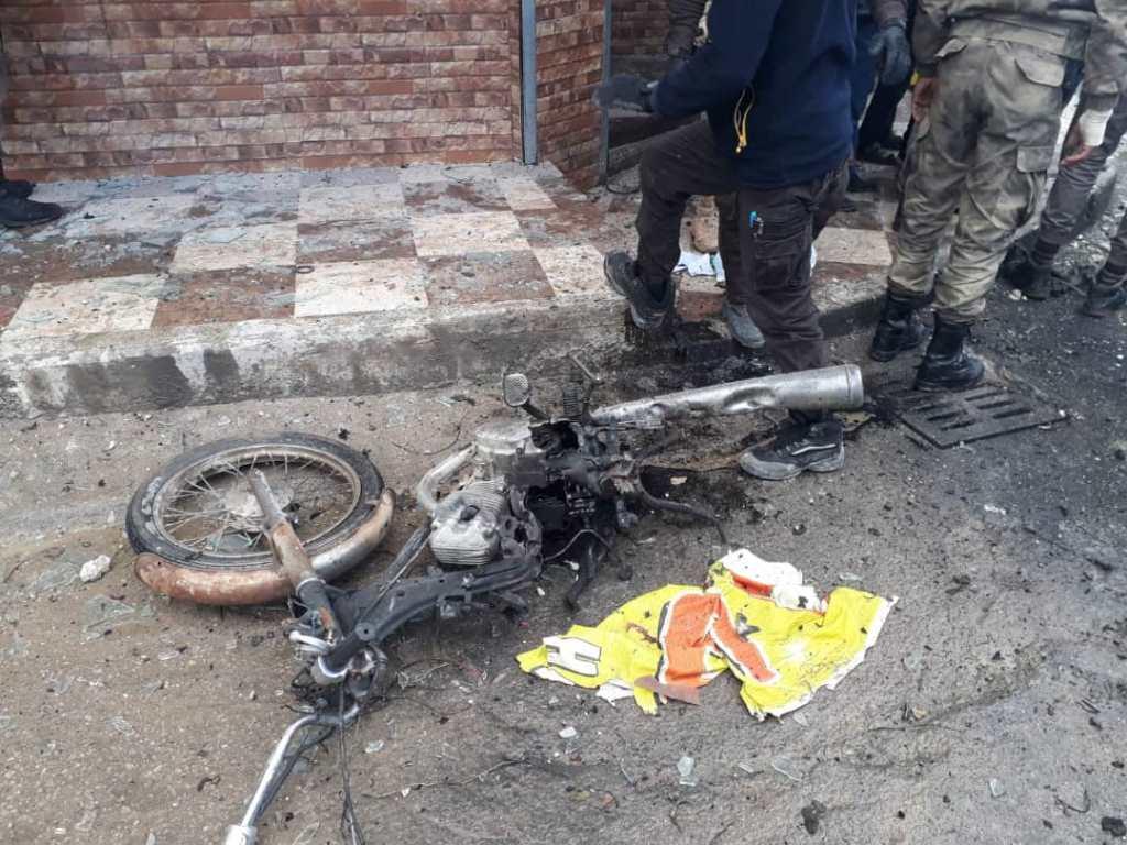 Motocicleta explotó en la ciudad de al-Bab