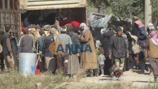 Fotos muestran cómo los mercenarios IS se entregaron a SDF en al-Bagouz