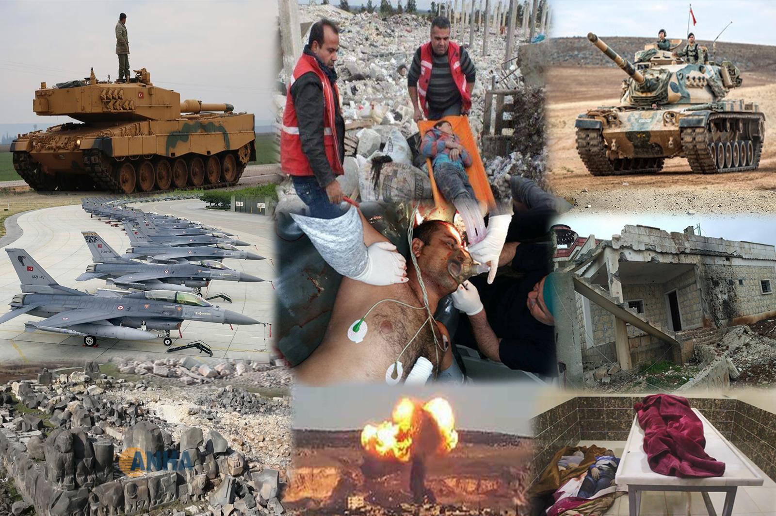 Ji bo parastina sivîlan bajarê Efrînê hate valakirin