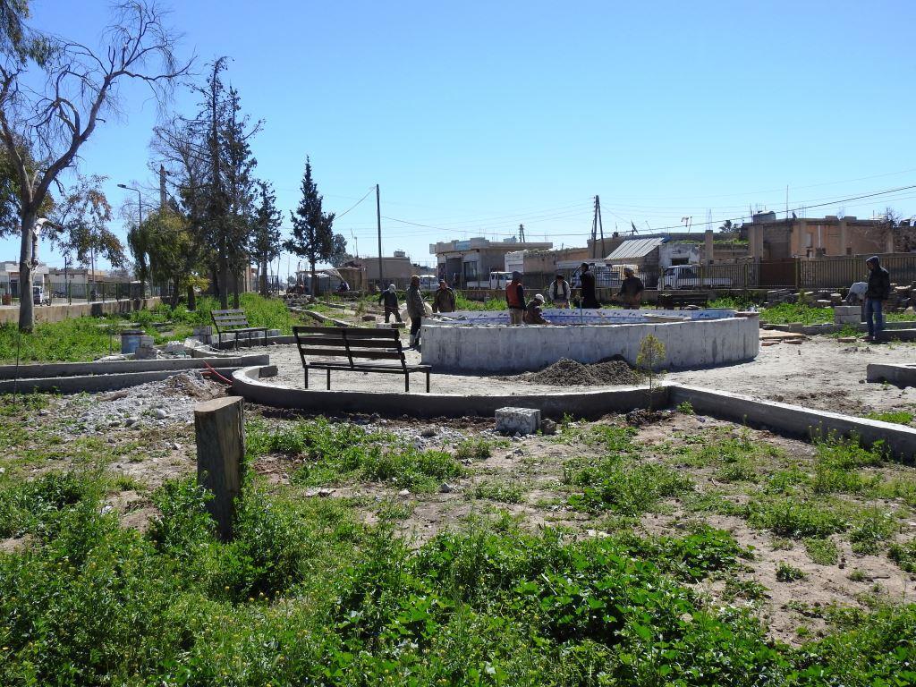 Şaredariya El-Hemrat avê digihîne 15 gundan û parkekê sererast dike