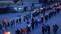Ciwanên Efrîn û Şehbayê li dijî tecrîdê meşiyan