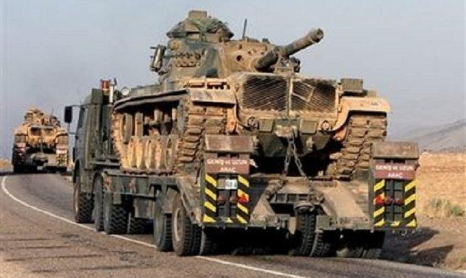 Военный конвой оккупационной Турции пересек территорию Сирии