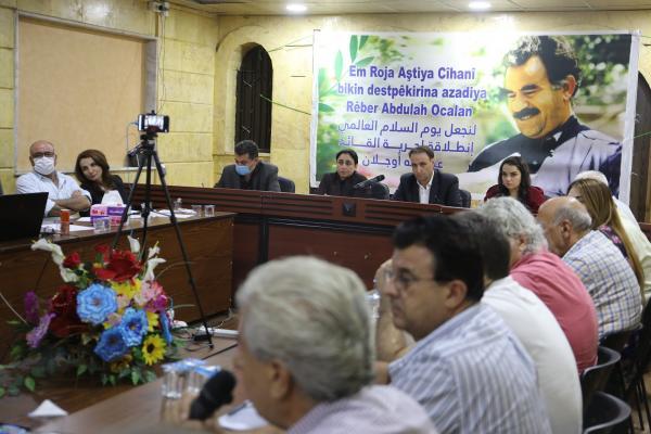 Önder Öcalan'a Özgürlük Komitesi'nden Qamişlo'da panel