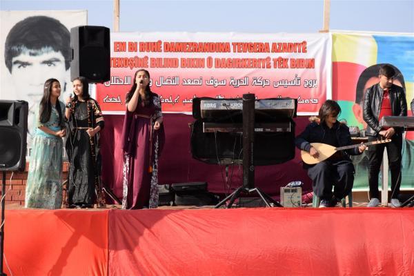 Rojava'da PKK'nin 42. yıldönümü coşkusu
