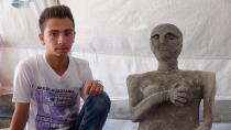 17 yaşında Efrinli bir heykeltıraş!