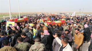 Cizre Fırtınası şehitleri Şedadê'de sonsuzluğa uğurlandı